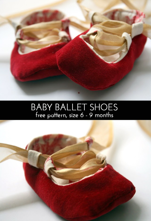 Baby Ballet Shoes Pattern