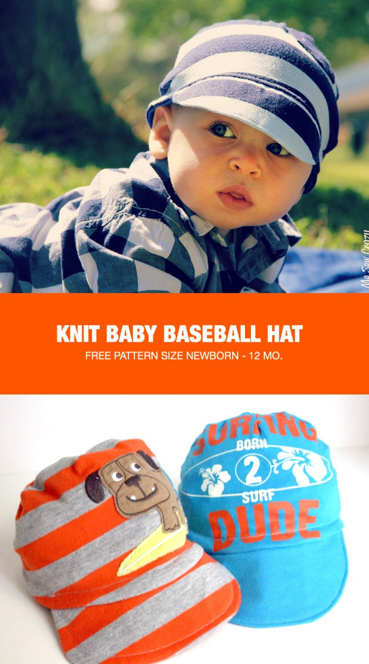 baby baseball hat the sewing rabbit