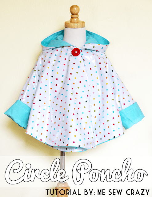 Circle Poncho DIY - an easy sewing tutorial for a poncho raincoat