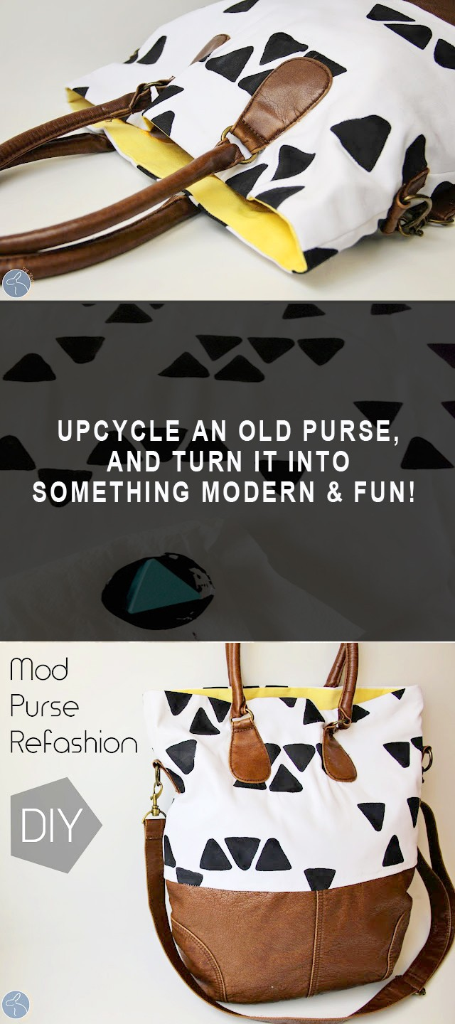 mod purse refashion DIY