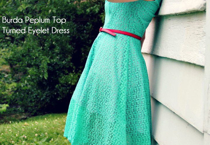 Peplum Eyelet Dress