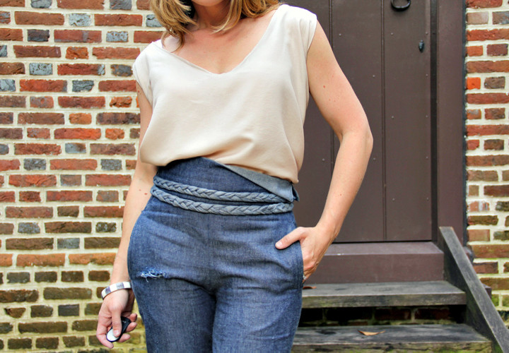 The Elegant Jeans and Tee Look - Burda