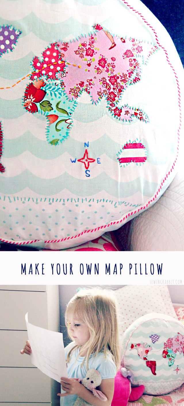 Make your own Map Pillow