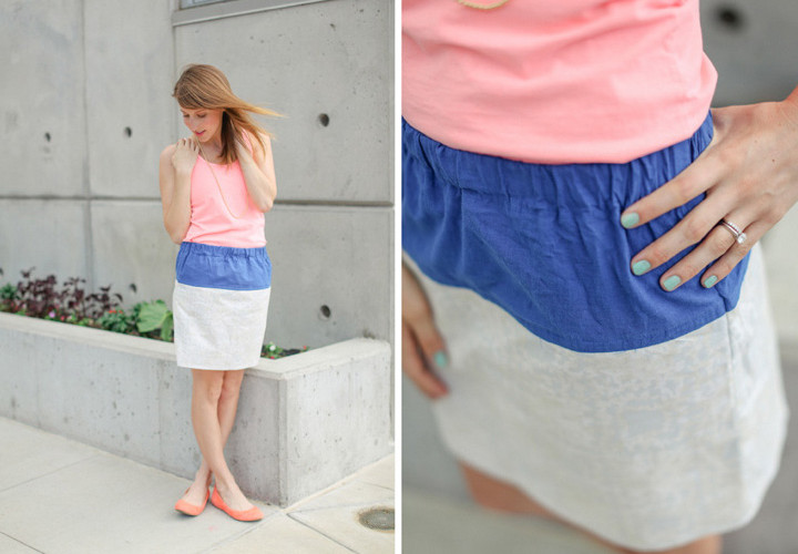 How to Sew an Easy Color Block Skirt