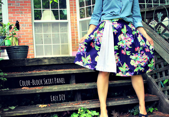 Easy Color-Block Skirt Panel - Summer of No Pants
