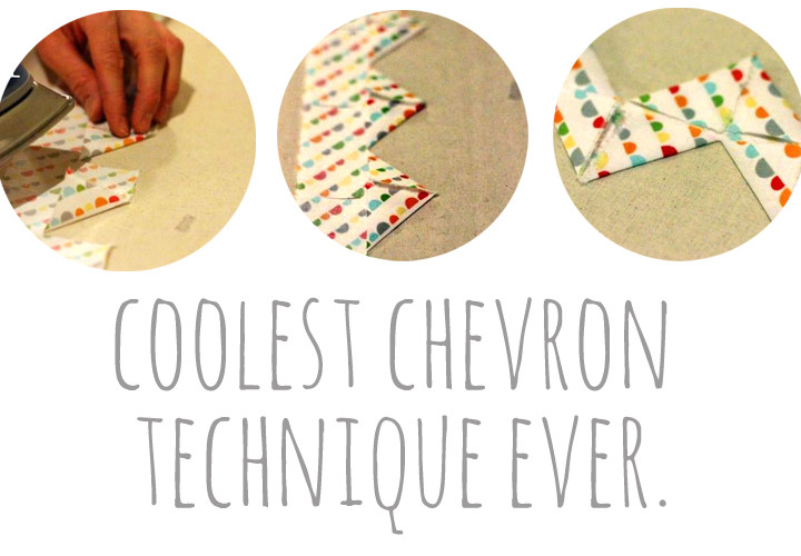 Coolest Chevron Sewing Technique