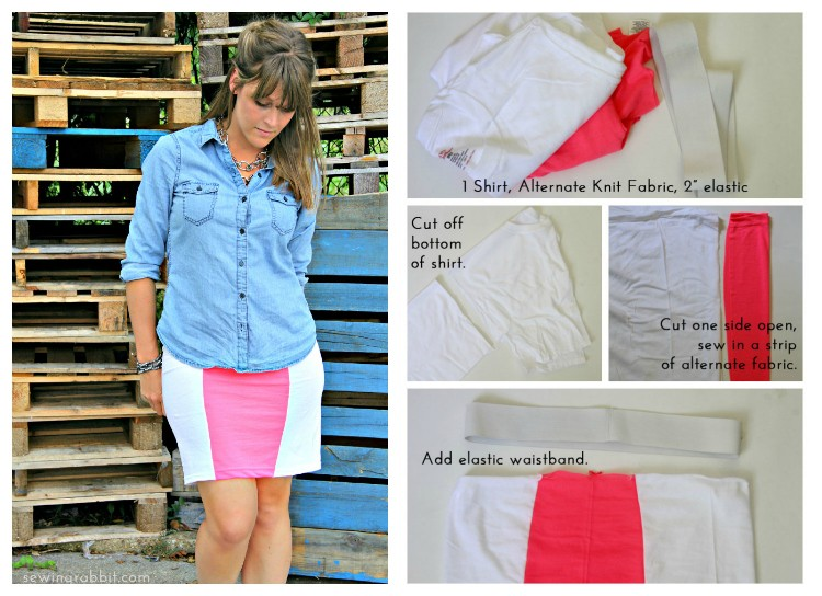 Look No 2 - Ten Shirt Challenge Collage - 10 Ways to Transform a White Tee -  #sewing   ||  www.sewingrabbit.com