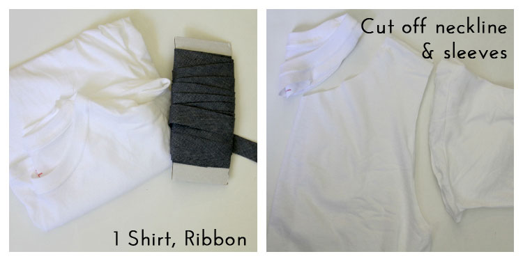 Look No 9 - Loose Tank with Belt - 10 Ways to Transform a White Tee -  #sewing   ||  www.sewingrabbit.com