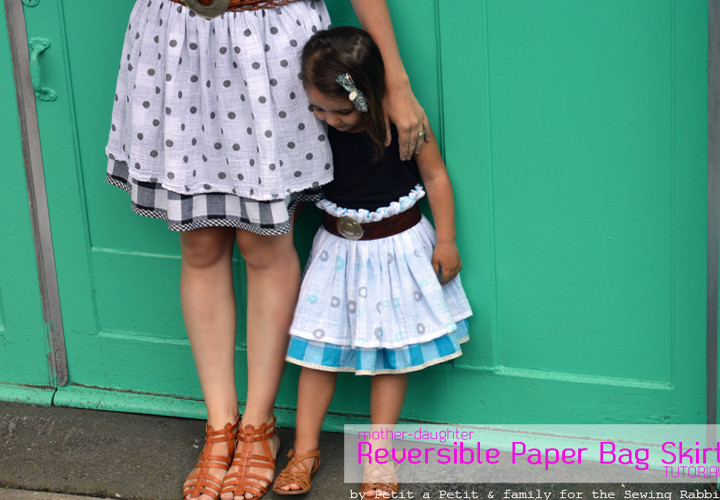 Mother-Daughter Reversible Paper Bag Skirt DIY