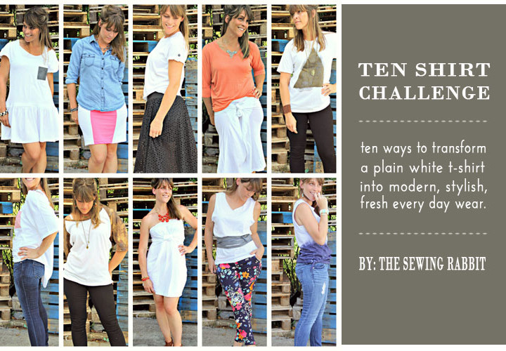 Ten Shirt Upcycle - 10 Ways to Transform a White Tee Shirt