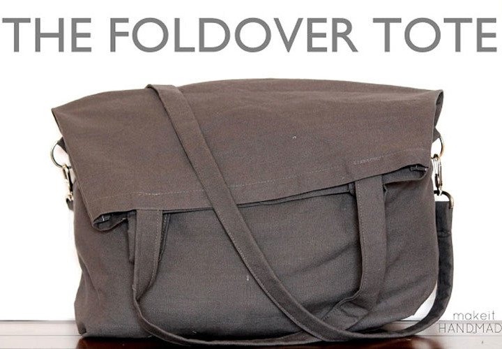 Foldover Tote Sewing Tutorial