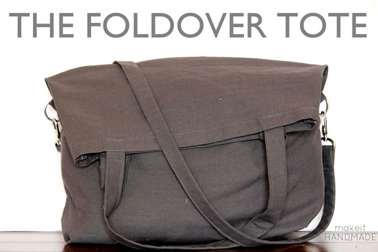 Foldover Tote #Sewing Tutorial   ||   sewingrabbit.com