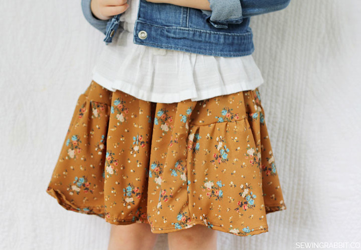 Side Bustle Kids Skirt DIY - Fall Collection 2013