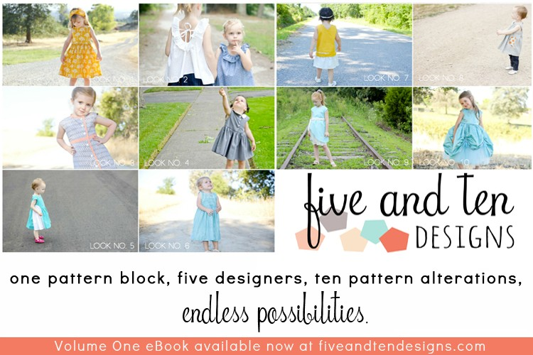 One Pattern - Five Designers - 10 Designs  ||  Volume One eBook Available Now    ||    fiveandtendesigns.com