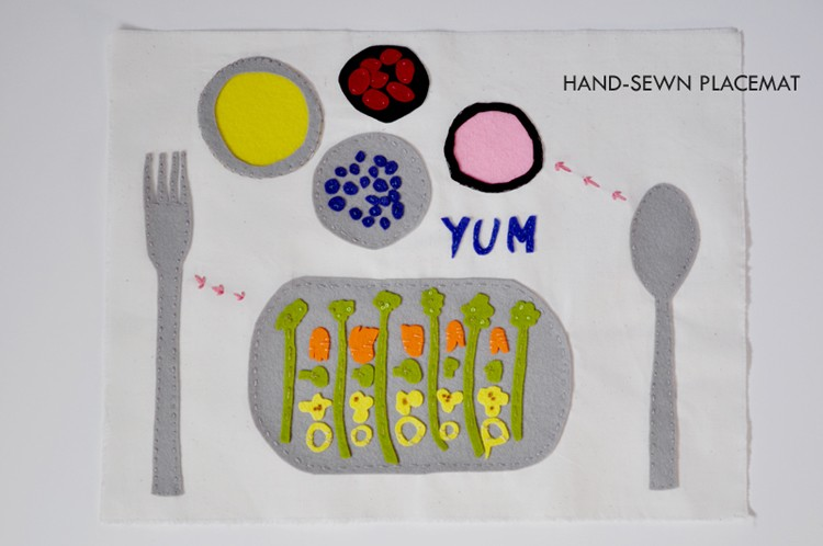 Hand-Sewn Placemat by Curly Birds   ||   K.I.D.S. - Kids Inspiration and Design Series