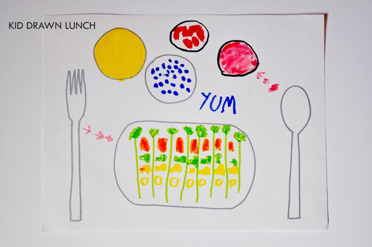 Kid Drawn Lunch by Curly Birds  ||  K.I.D.S. - Kids Inspiration & Design Series