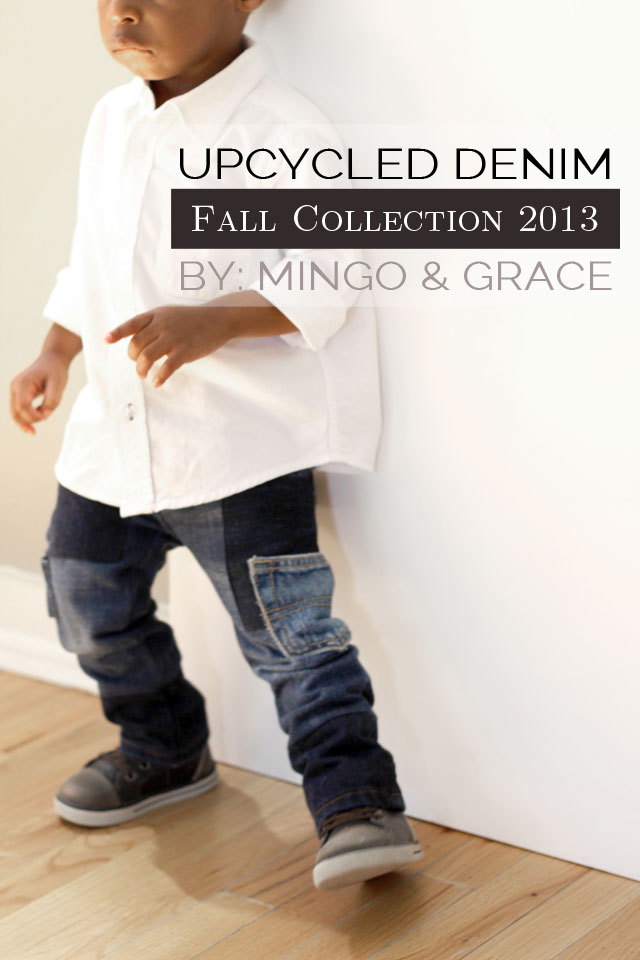 Upcycled Denim DIY - #SewingRabbitFallCollection - Mingo & Grace