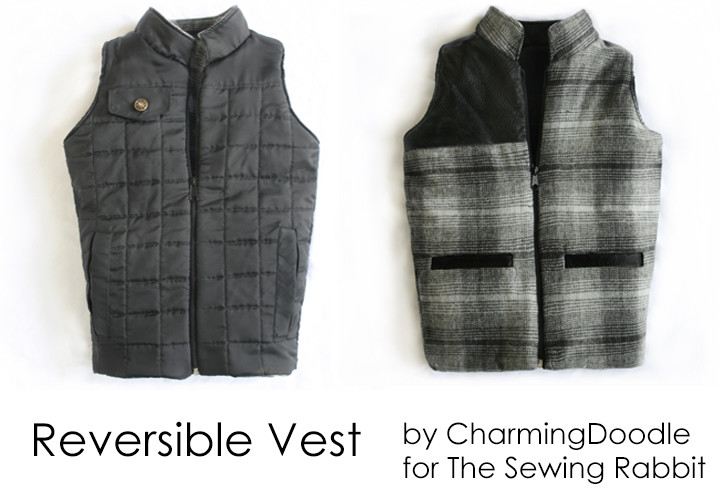 Reversible Vest with Pocket Flap DIY - Fall Collection 2013