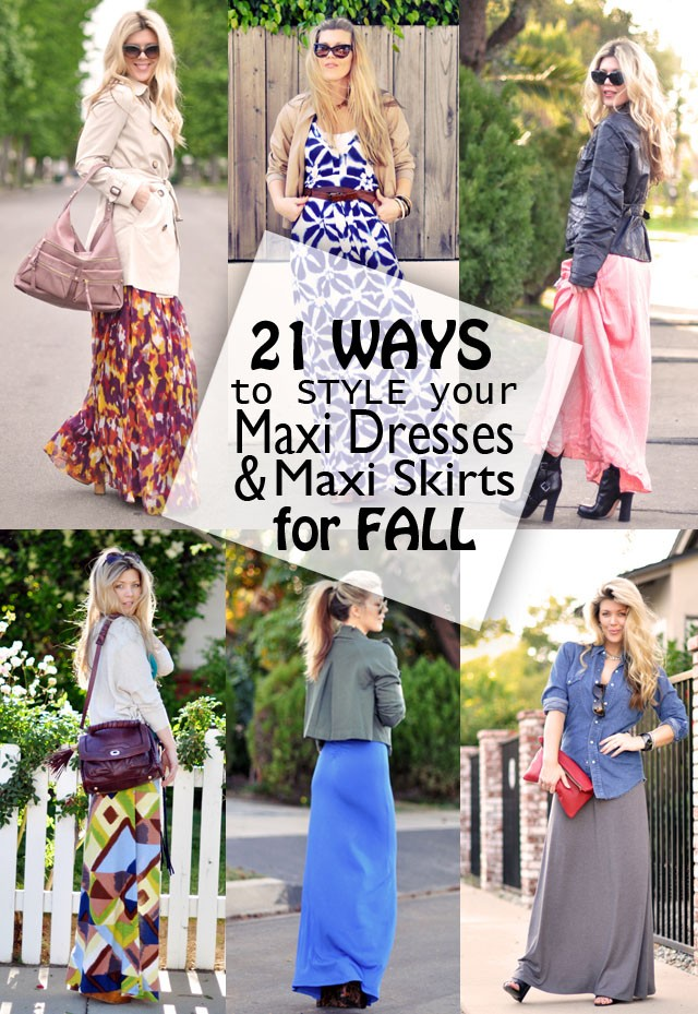 21 Ways to Style Maxi Dresses For  Fall