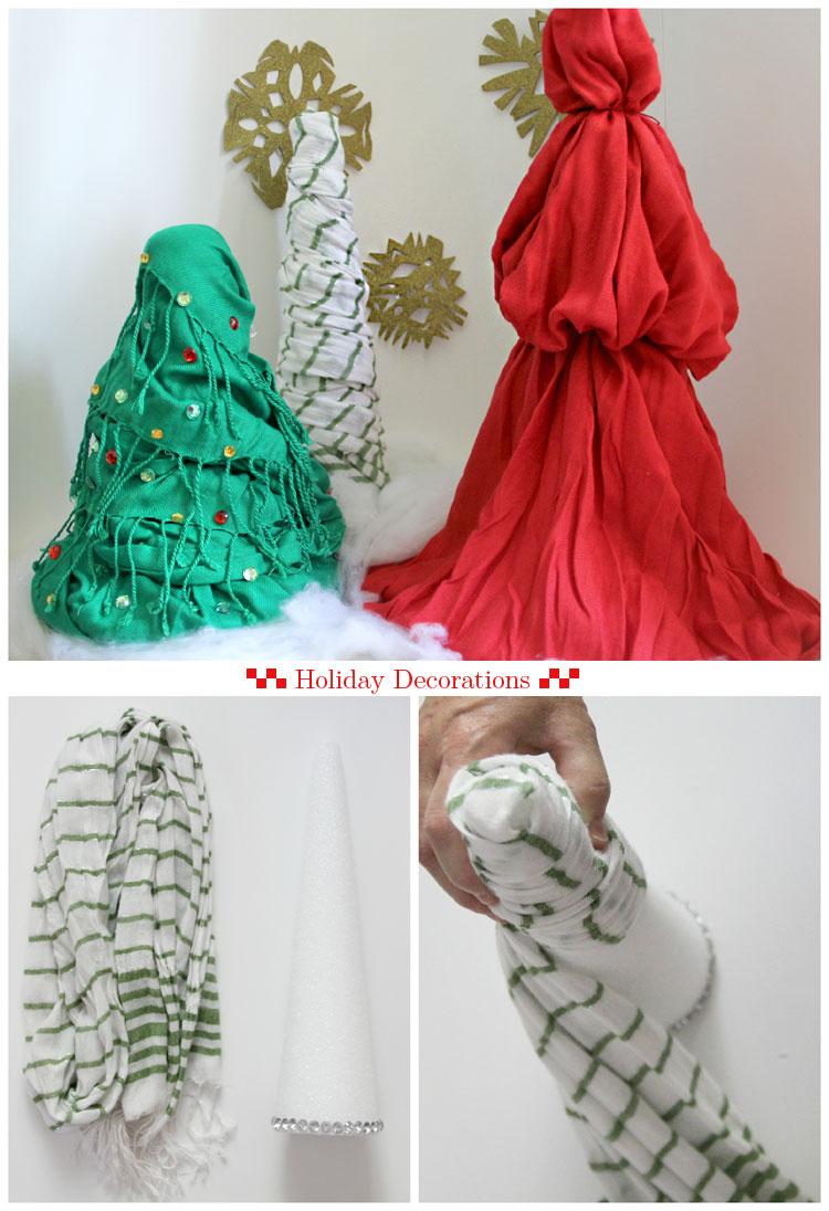 Scarf Christmas Trees  ||  10 things you can do with a scarf