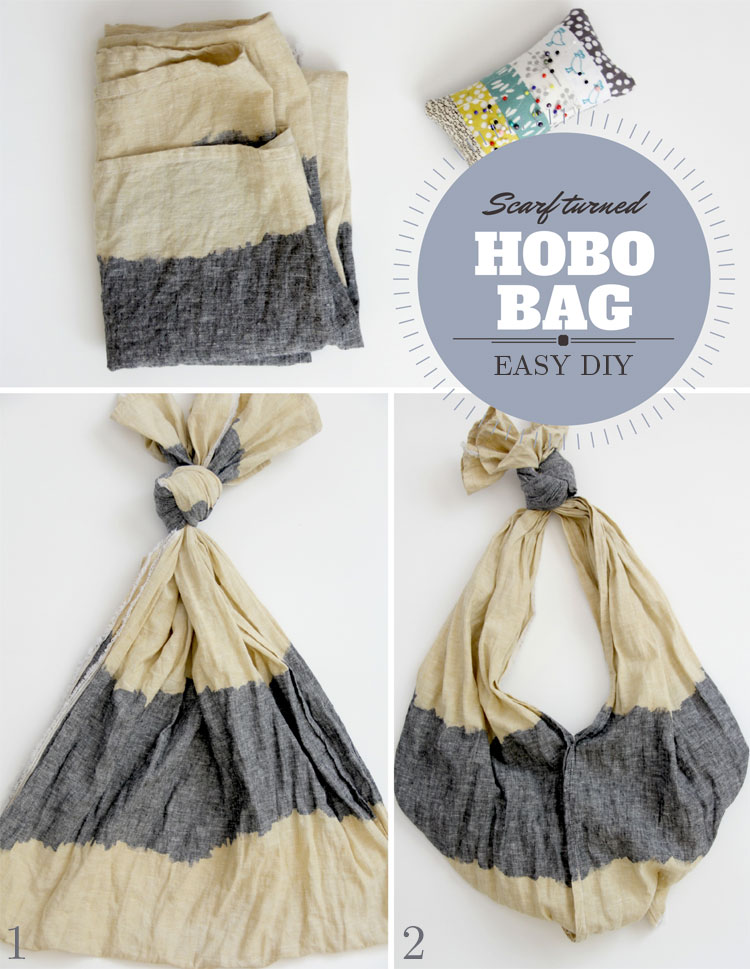 Scarf into Hobo Bag - 10 Things to do with a Scarf