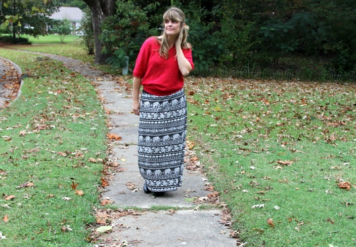 Fall Fashion Maxi Skirt