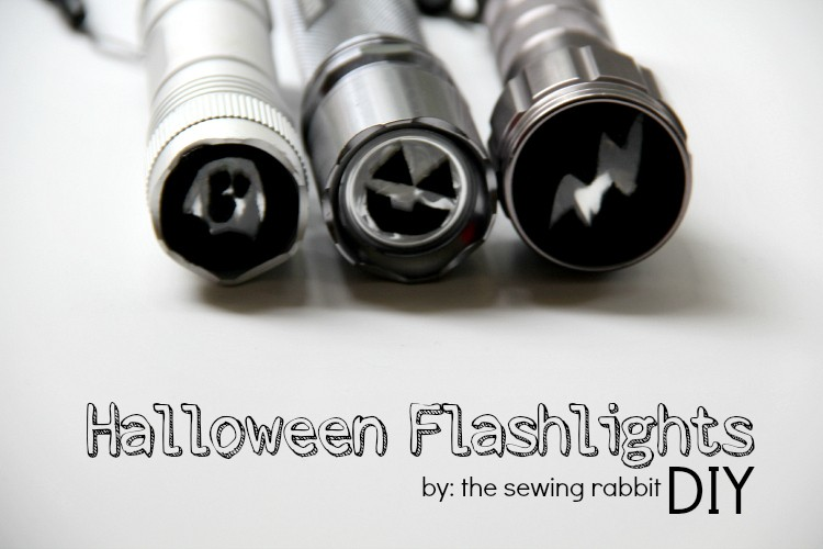 Halloween Flashlights - 5 minute DIY!