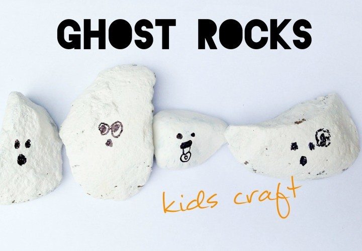 Ghost Rocks - Kids Halloween Craft - Video