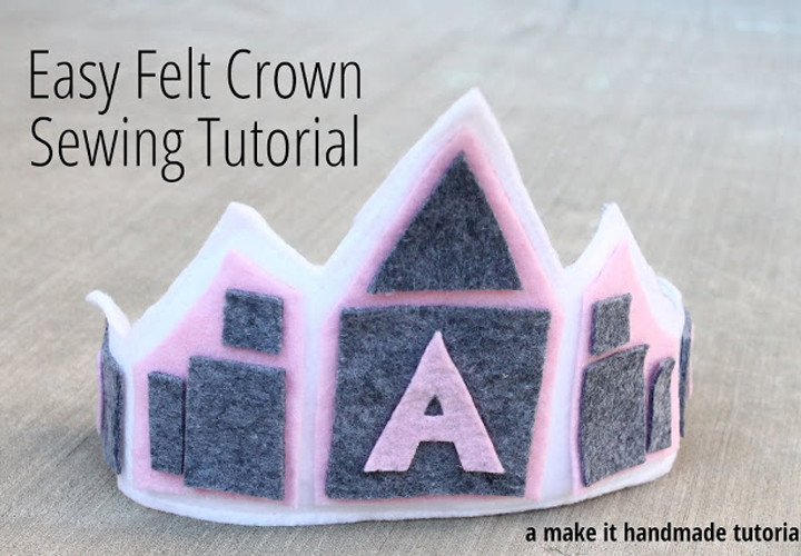 Easy Felt Crown Sewing Tutorial