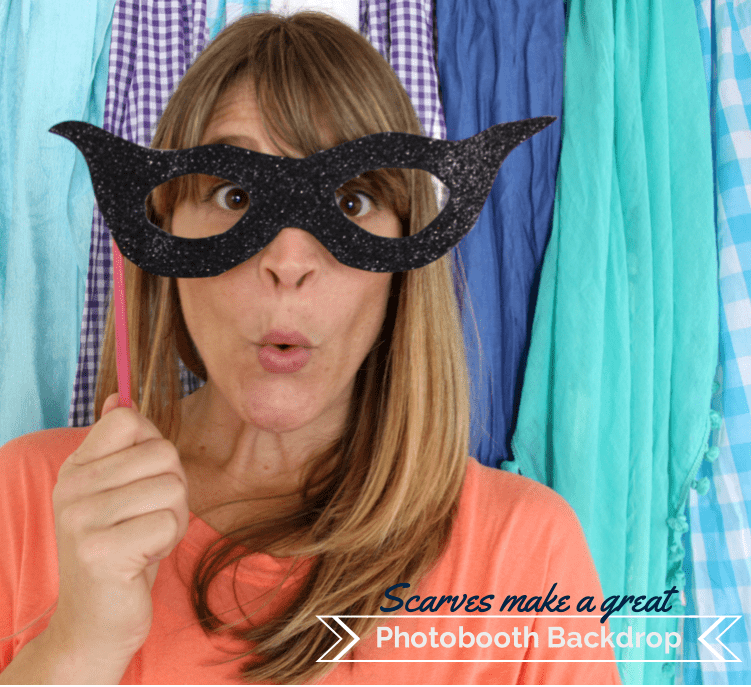 Photobooth Backdrop - Scarves  ||  10 Things you can do with Scarves