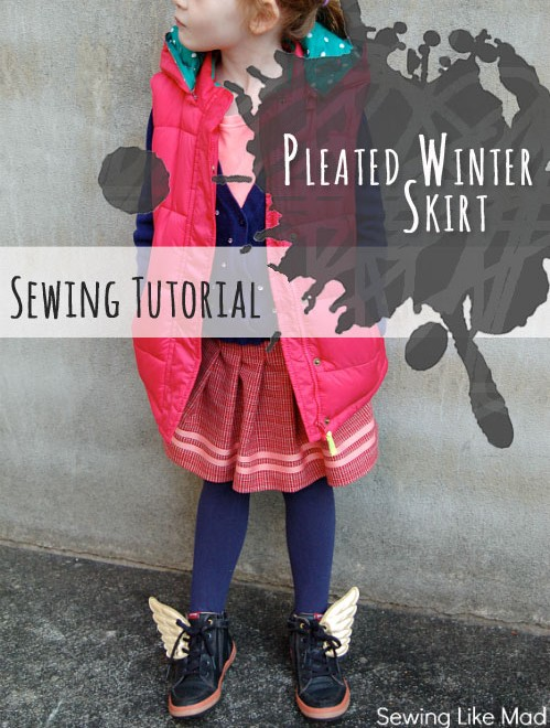 Pleated Winter Skirt Sewing Tutorial