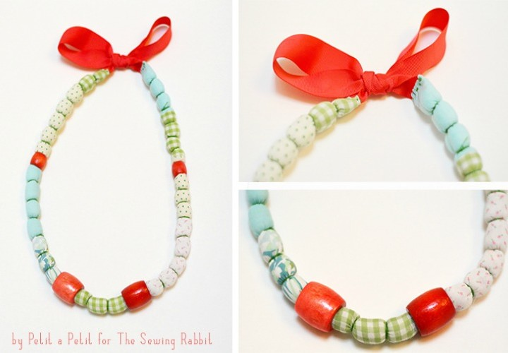 DIY Fabric Scrap Necklace