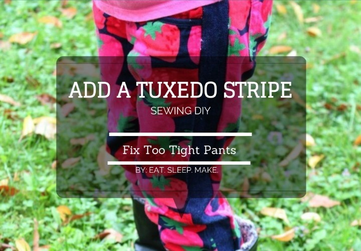 Fix Too Tight Pants with Tuxedo Stripes