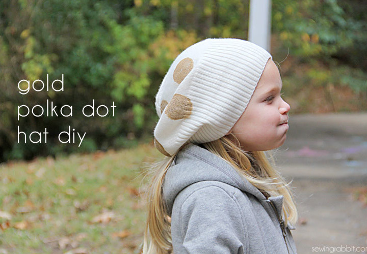 Gold Polka Dot Hat DIY