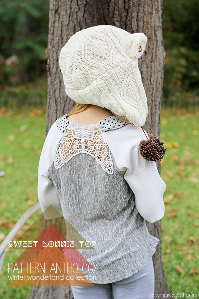 Sweet Bonnie Top - Pattern Anthology Winter Wonderland   ||  sewingrabbit.com