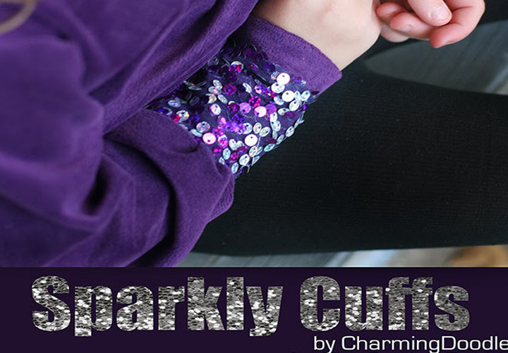 Sparkle Sequin Cuffs DIY