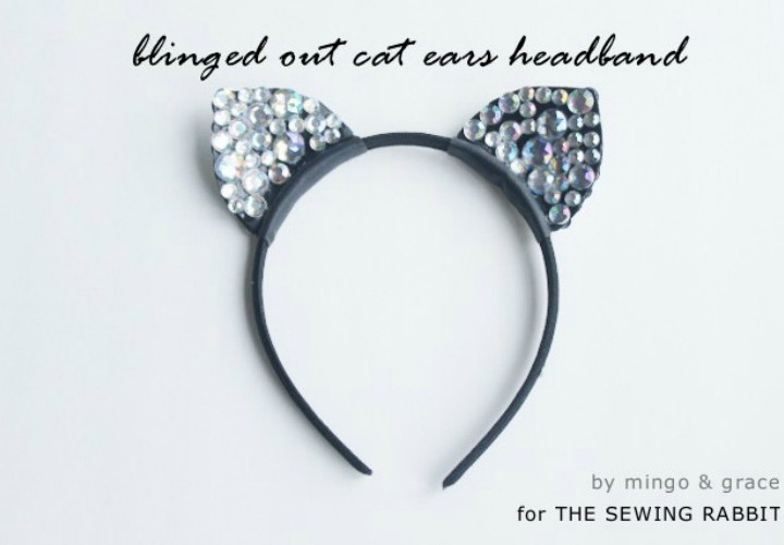 Blinged Out Cat Ears Headband DIY