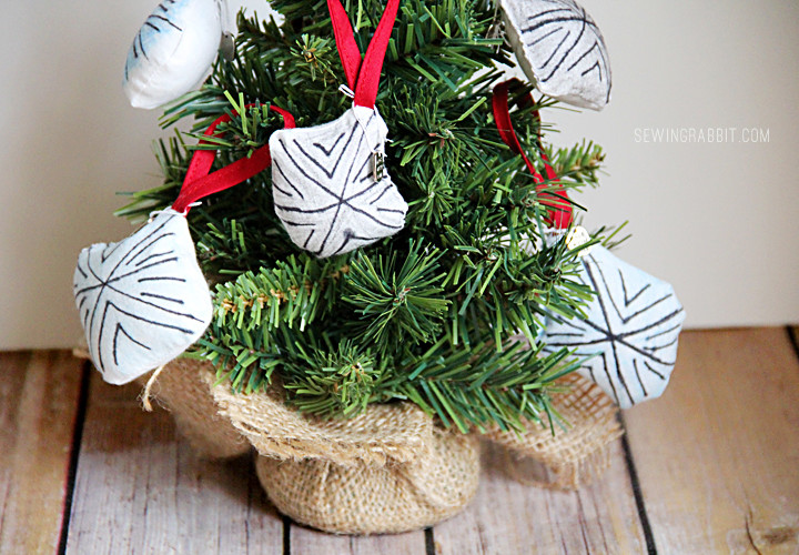 Kid Craft - Fabric Snowflake Ornaments