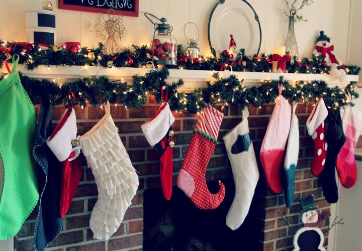 Christmas Stocking with Free Pattern - Styled 8 Ways