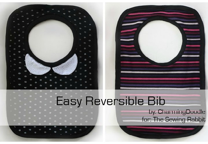 Easy Reversible Bib - Sewing Tutorial