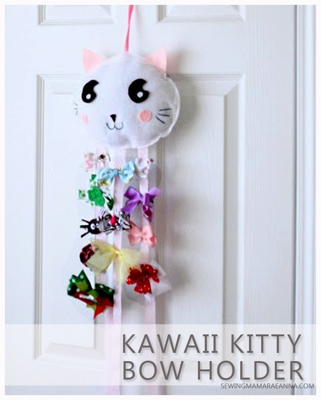 Kawaii Kitty Bow Holder - DIY with free pattern