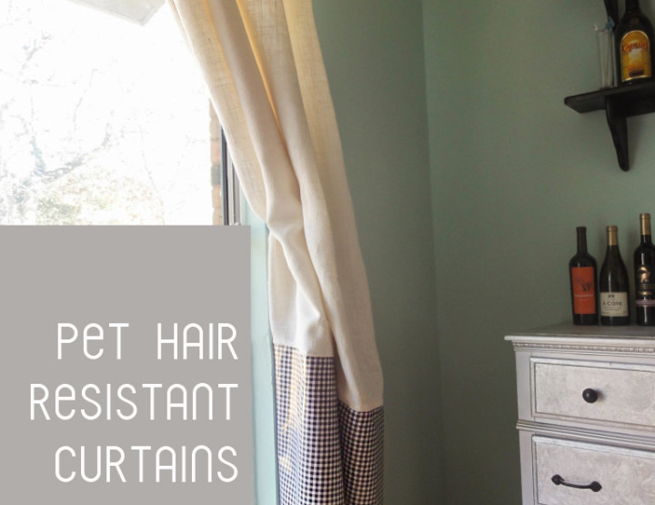 Pet Hair Resistant Curtains DIY