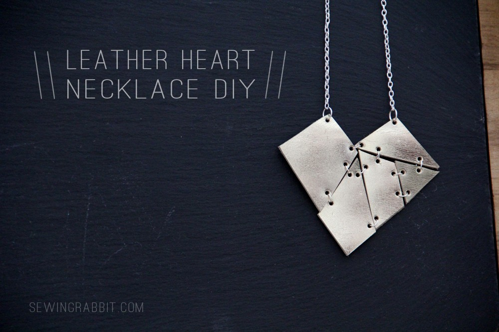 How to make a leather geometric heart necklace