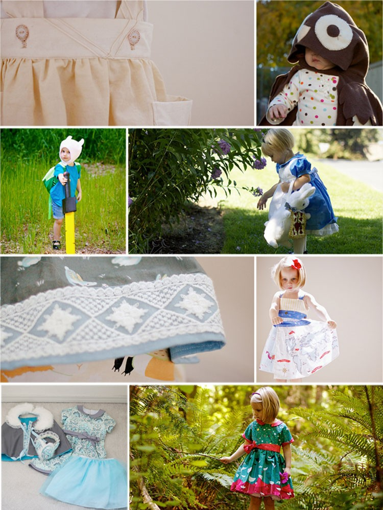 Daisies & Dresses Collage - - Meet the 2014 Sewing Rabbit Team