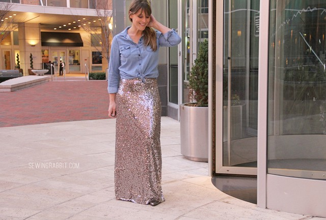 Sequin Maxi Skirt Style