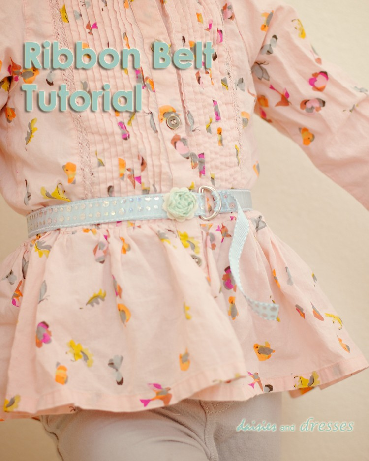 Easy Peasy 5 Minute Ribbon Belt Tutorial