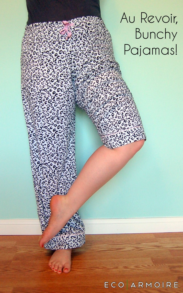 Pajama Leg Hack - Keep Pants from Riding while you sleep with this easy DIY