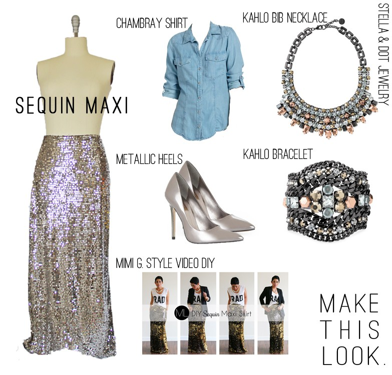 Sequin Maxi Skirt Style - DIY