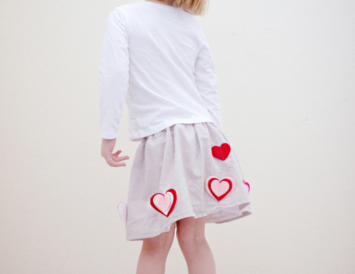 Easy Heart Skirt Tutorial