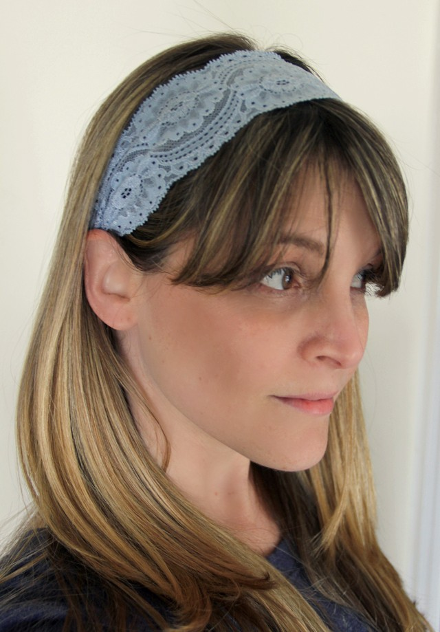 2 Minute Lace Headband DIY